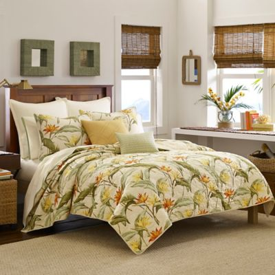 Tommy Bahama 174 Birds Of Paradise Quilt In Coconut Bed