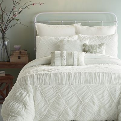 Jessica Simpson Liliane Ruffle Weave Comforter Set In
