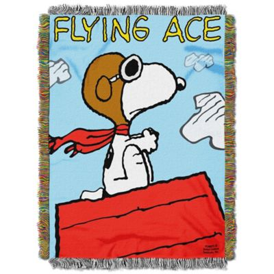 Peanuts The Flying Ace Tapestry Throw Bed Bath Amp Beyond