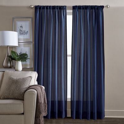 Buy Navy Blue Curtains Window Treatments From Bed Bath Amp Beyond