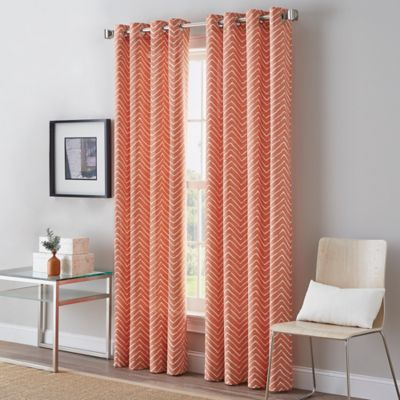 Herringbone Grommet Top Window Curtain Panel Www