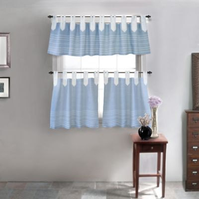 Park B Smith Nordic Bands Tab Top Window Curtain Tier Pair Bed Bath Amp Beyond