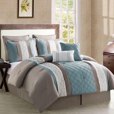 Buy Vcny Farion 8 Piece Queen Comforter Set In Charcoal