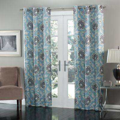 Mstyle Ankara 84 Inch Grommet Top Window Curtain Panel Pair Bed Bath Amp Beyond