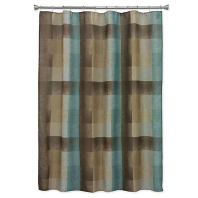 Bacova Fresh Flannel Shower Curtain In BrownBlue WwwBedBathandBeyondcom