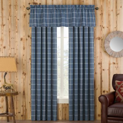 Branklyn Plaid Window Curtain Panel And Valance Bed Bath