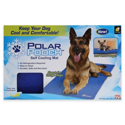 Polar Pooch Self Cooling Mat For Dogs In Blue Bed Bath
