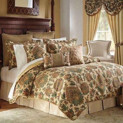 Croscill Minka Comforter Set In NaturalTeal Www