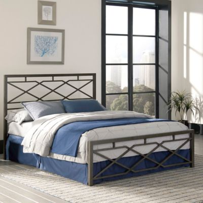 Buy Headboards Beds from Bed Bath   Beyond Fashion Bed Group Alpine Full Bed in Rustic Pewter