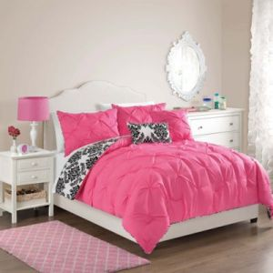 Buy Hot Pink Twin Comforter from Bed Bath   Beyond VCNY Olivia Full Queen Comforter Set in Hot Pink