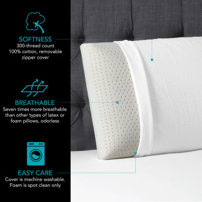 jcpenney home latex pillow with knit