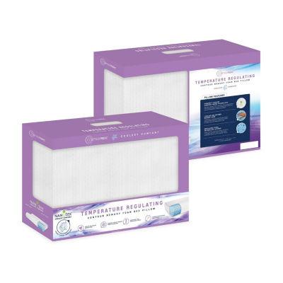 sensorpedic coolest comfort temperature regulating gel infused contour memory foam pillow