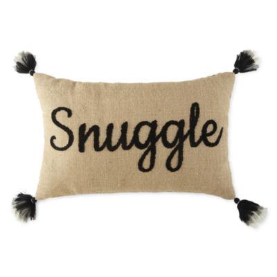 jcpenney home snuggle rectangular throw pillow
