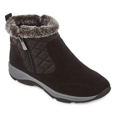 Easy Spirit Womens Vance10 J Water Resistant Flat Heel Winter Boots Color Blk01 JCPenney