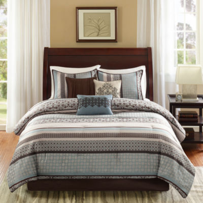 madison park harvard 7 pc jacquard comforter set
