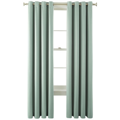 jcpenney home kathryn energy saving light filtering grommet top single curtain panel