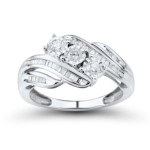 I Said Yes       1 6 CT  T W  Certified Diamond Engagement Ring Love Lives Forever 1 2 CT  T W  Round White Diamond 10K Gold 3
