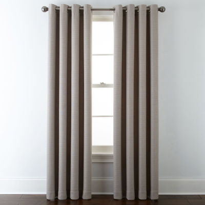 liz claiborne quinn basketweave energy saving light filtering grommet top single curtain panel jcpenney