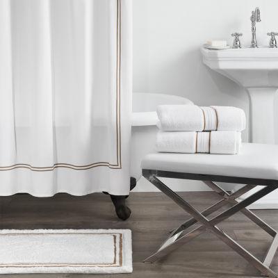 fieldcrest luxury border stripe shower curtain