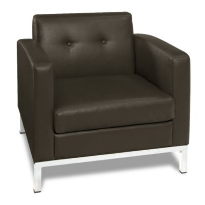 Set Of 4 Modern Guest Chairs In Faux Leather
