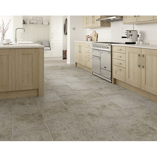 wickes boutique kirkby brown tumbled limestone wall floor tile 700 x 400mm