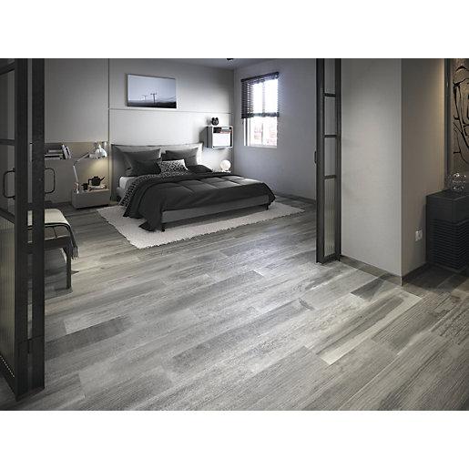 wickes boutique oslo grey glazed porcelain wood effect wall floor tile 1200 x 200mm