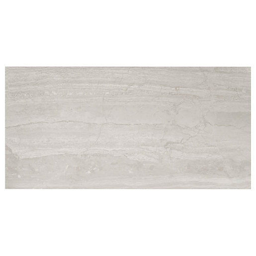 wickes olympia grey polished stone porcelain wall floor tile 600 x 300mm sample