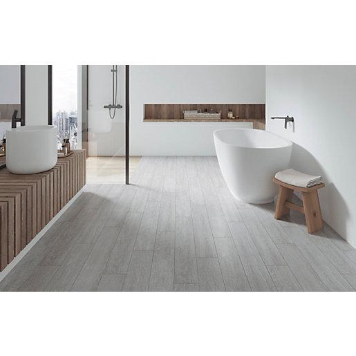 wickes kielder light grey wood effect porcelain wall floor tile 900 x 150mm