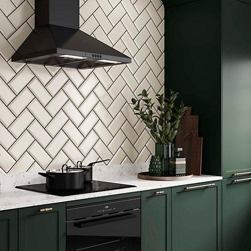 wickes metro cream ceramic wall tile 200 x 100mm