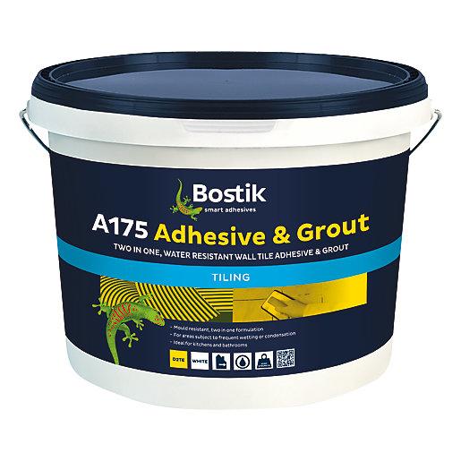 bostik ready mixed tile adhesive grout 5l white