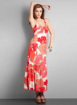City Style Sleeveless Print Maxi Dress