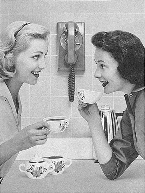 Image result for 1950s  housewives gossiping