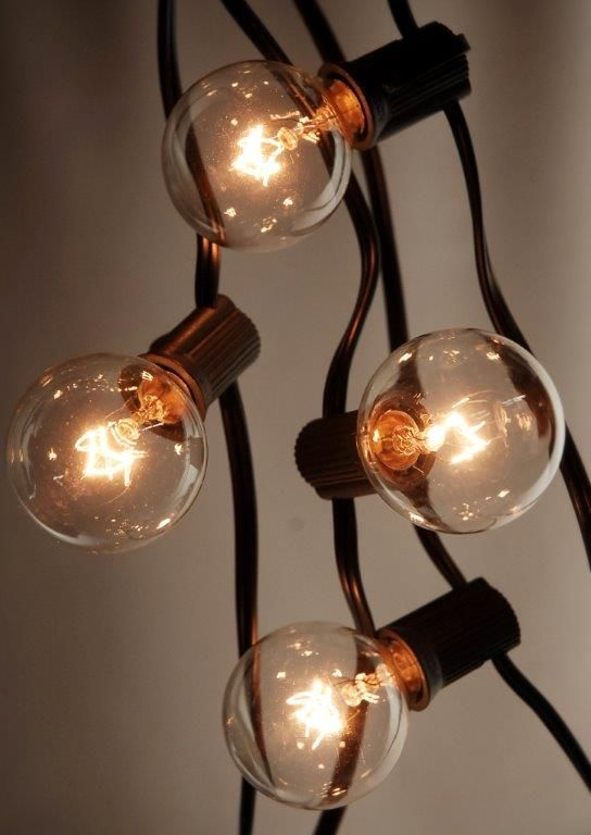 THIS SITE IS AWESOME Globe String Lights Black Wire 25 Ft