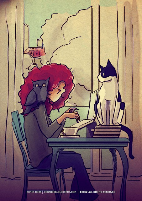 Image result for girl writing on laptop drawing