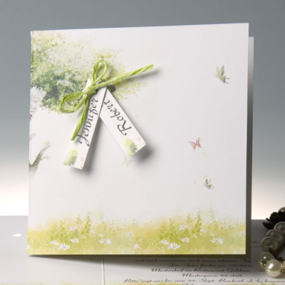 Country Rustic Mint Green Folded