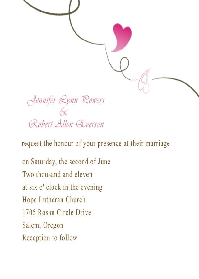 heart wedding invitations simple and affordable and simple and