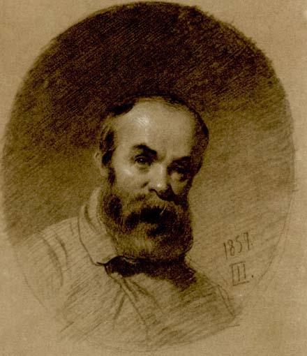Тарас Шевченко. Автопортрет 1857 року.