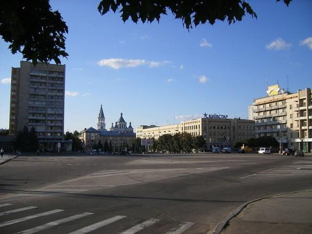 Житомир. Соборний майдан — центральна площа міста