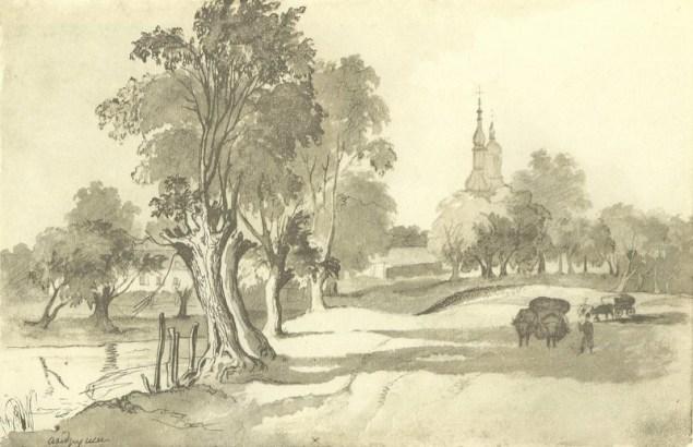 Тарас Шевченко (1845). «Верби в Андрушах».