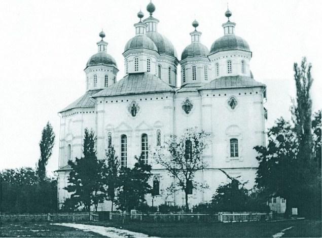 Будівництво Хрестовоздвиженського собору (фото 1900 року). newssky.com.ua