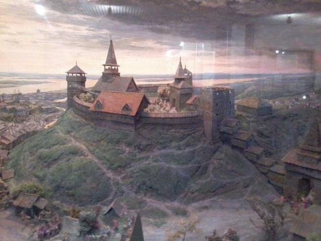 Макет Черкаського замку (реконструкція). Фото — Barow (2015).