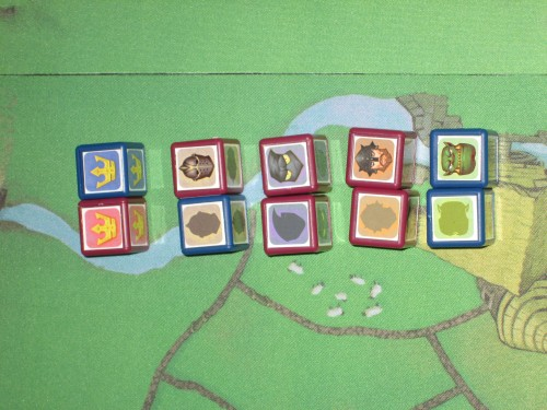 Here are the cubes side by side showing captured and uncaptured sides.