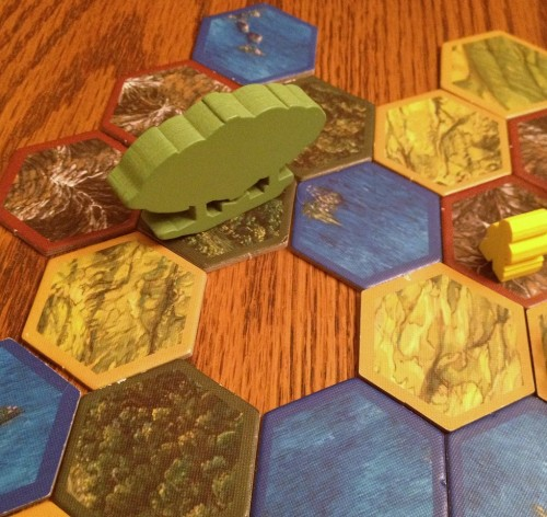 Blasting a whole in the earth seems rather extreme, don't you think? Not when you need one tile to score that terrain pattern, it don't!