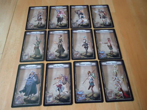 Temple of Chac character cards