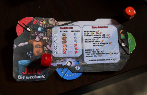 I think the actual player boards will be less cluttered - you won't need the conversion key for the dice