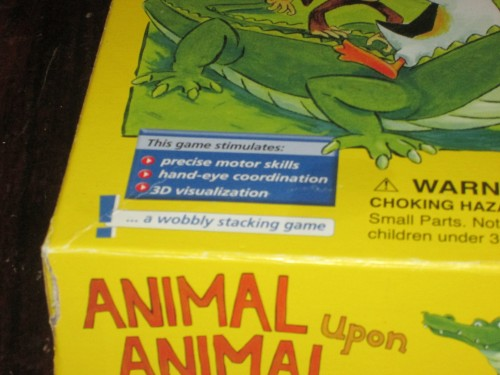 You should play this game because it will help you with hand-eye coordination and fine motor skills.
