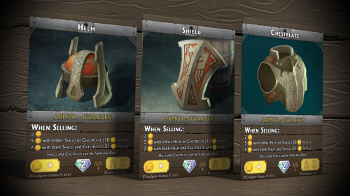 Gotta collect 'em all! In this case, a complete set of armor earns more gold when selling.