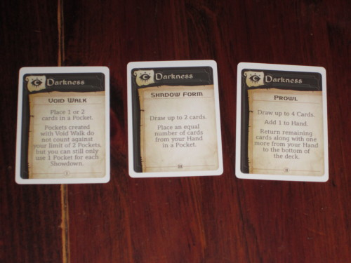One set of the advanced spells. They allow players to alter the game in a more powerful way, usually in exchange for some control.