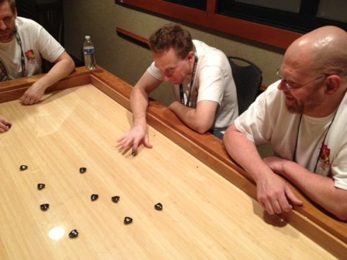 Nothing like 7 grown men playing Hearts of Attraction together late into the night. <3