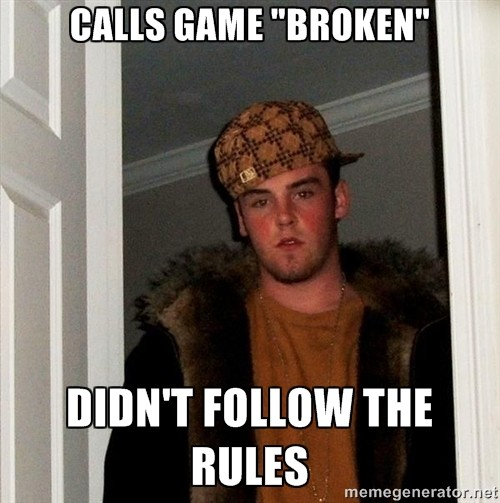 Scumbag Steve broken rules